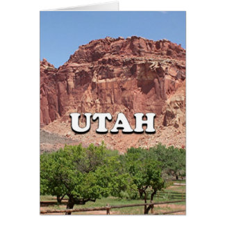 Utah: Fruita, Capitol Reef National Park, USA Card