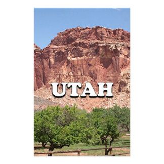 Utah: Fruita, Capitol Reef National Park, USA Stationery