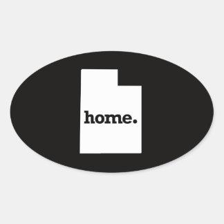 Utah Home Oval Sticker