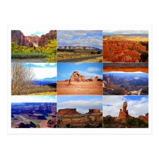 Utah Icon Collage Postcard