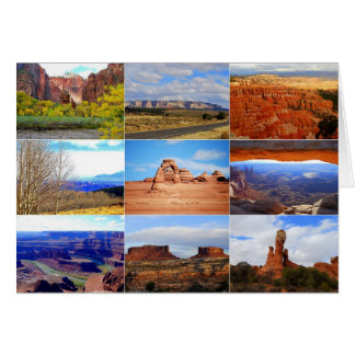 Utah Landscape Icons Card