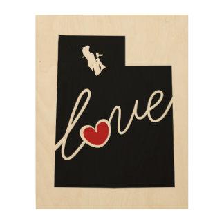 Utah Love!  Gifts for UT Lovers Wood Prints