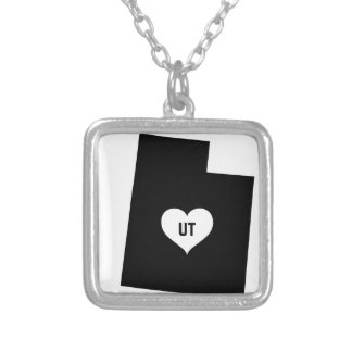 Utah Love Silver Plated Necklace
