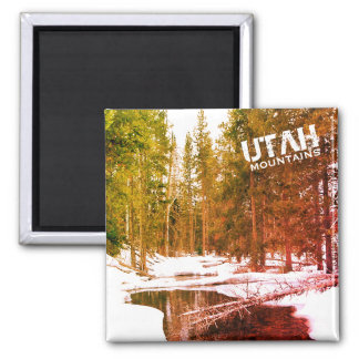 Utah Mountain Winter Landscape Magnet