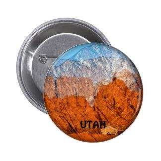Utah Mountains 6 Cm Round Badge
