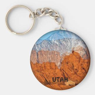 Utah Mountains Key Ring