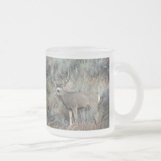 Utah mule deer buck frosted glass coffee mug