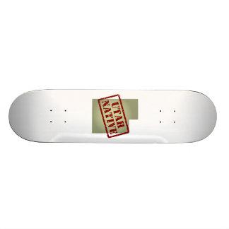 Utah Native Stamped on Map Skate Board Decks