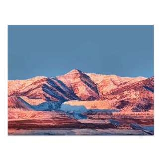 Utah Postcards Oquirrh Mountains Snow Winter Plain