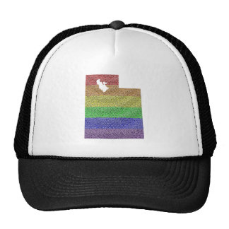 Utah Rainbow Pride Flag Mosaic Cap