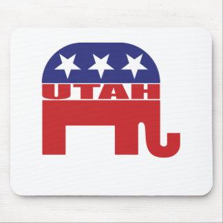 Utah Republican Elephant Mousepads