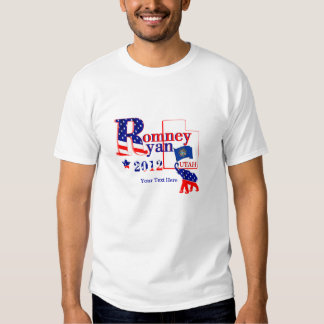 Utah Romney and Ryan 2012 Tee Shirt 2