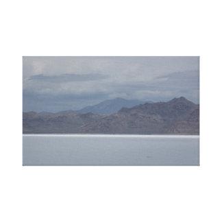 Utah Salt and Skyline Canvas Print