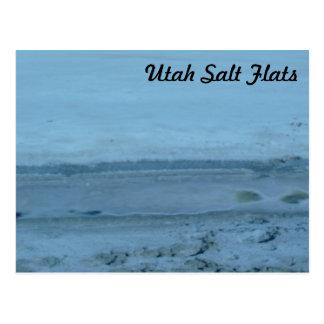 Utah Salt Flats Tourist Postcard