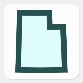 Utah Square Sticker