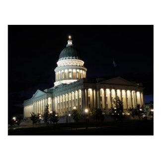 Utah State Capitol at Night - Salt Lake City Postcard