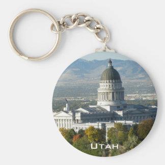 Utah State Capitol - Salt Lake City Basic Round Button Key Ring