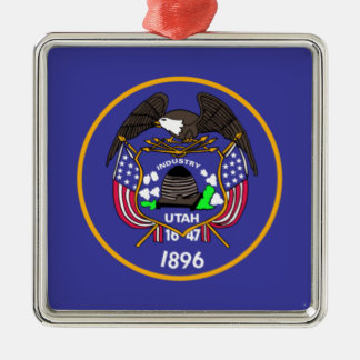 Utah State Flag Metal Ornament