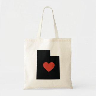 Utah State Love Book Bag or Travel Tote