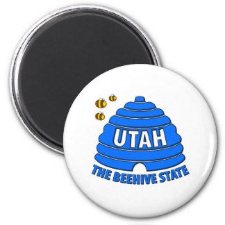 Utah: The Beehive State 6 Cm Round Magnet