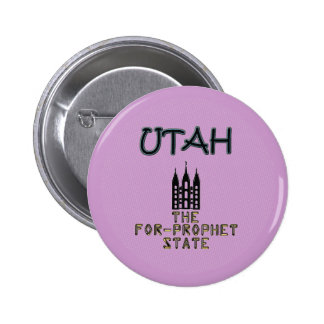 UTAH The For-Prophet State Pinback Button