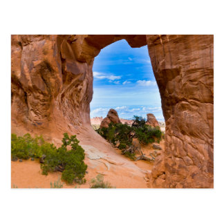 Utah,USA. Pine Tree Arch in Arches National Park. Postcard
