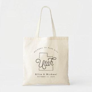 Utah Wedding Welcome Tote Bag