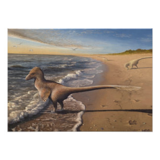 Utahraptor at Dawn Print