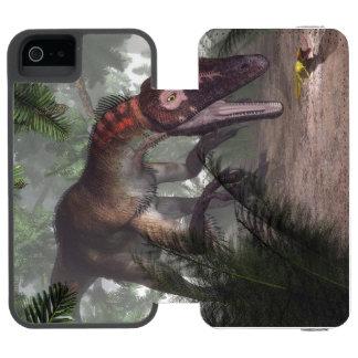 Utahraptor dinosaur hunting a gecko incipio watson™ iPhone 5 wallet case