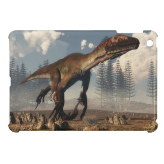 Utahraptor dinosaur in the desert - 3D render iPad Mini Covers