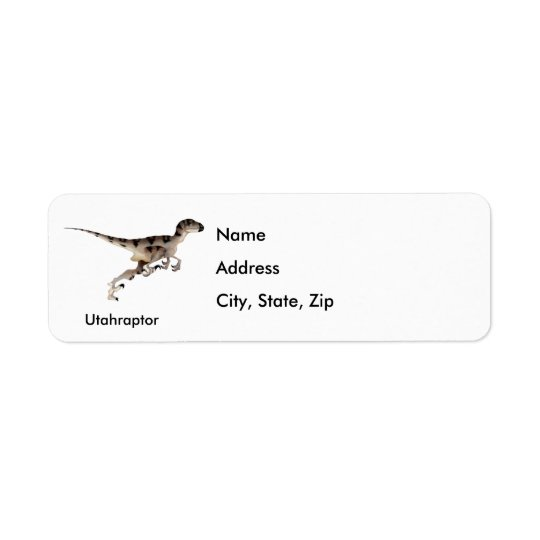 Utahraptor Return Address Label