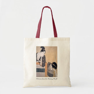 Utamaro Couple with Standing Screen Tote Bag