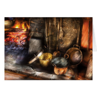 Utensils - Colonial Kitchen Greeting Card
