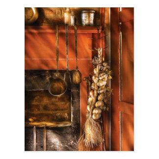 Utensils - Garlic and Spoons Postcard
