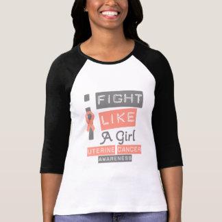 Uterine Cancer Label Logo I Fight Like A Girl T Shirts