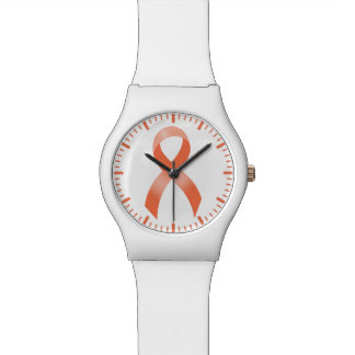 Uterine Cancer Peach Ribbon Watch