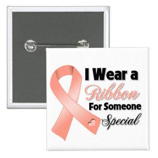 Uterine Cancer Ribbon Someone Special 15 Cm Square Badge