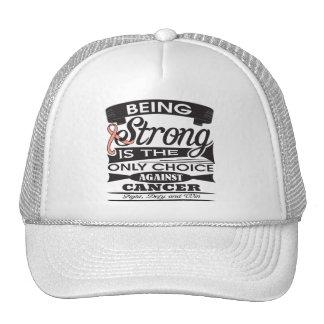 Uterine Cancer Strong Trucker Hats