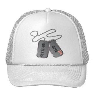 Uterine Cancer Survivor Dog Tags Mesh Hat