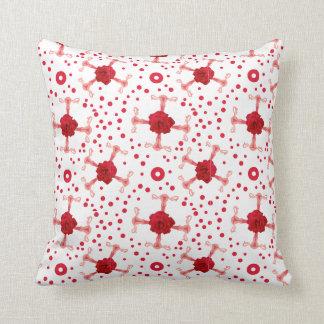 UterRoses - Uterus Rose Cross Repeat Pattern Cushion