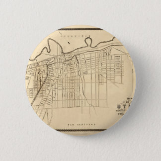 Utica 1874 6 cm round badge