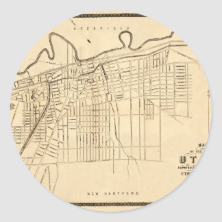 Utica 1874 classic round sticker