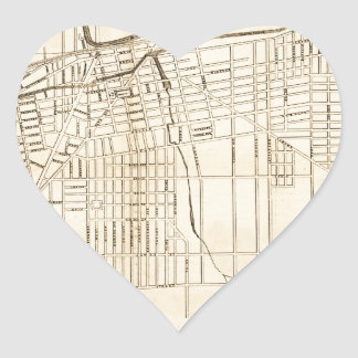 Utica 1874 heart sticker