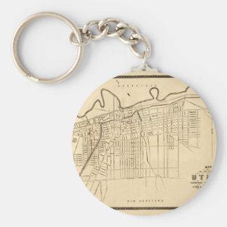 Utica 1874 key ring