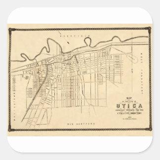 Utica 1874 square sticker