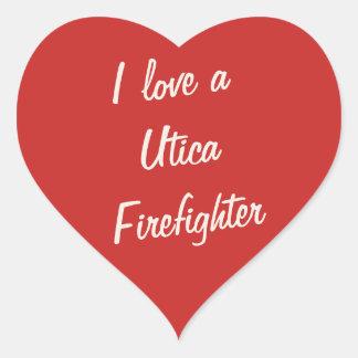 Utica Fire Series Heart Sticker