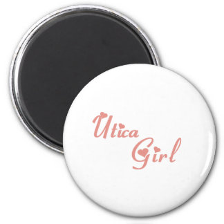 Utica Girl tee shirts 6 Cm Round Magnet
