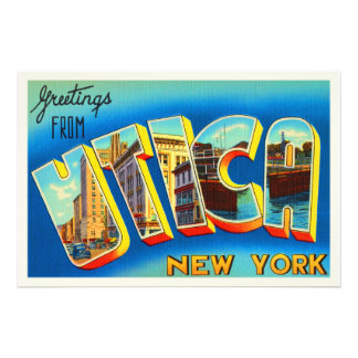 Utica New York NY Old Vintage Travel Souvenir Photograph