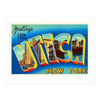 Utica New York NY Old Vintage Travel Souvenir Postcard