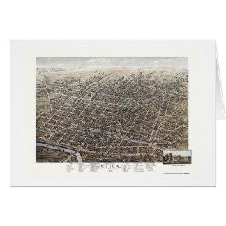 Utica, NY Panoramic Map - 1873 Card